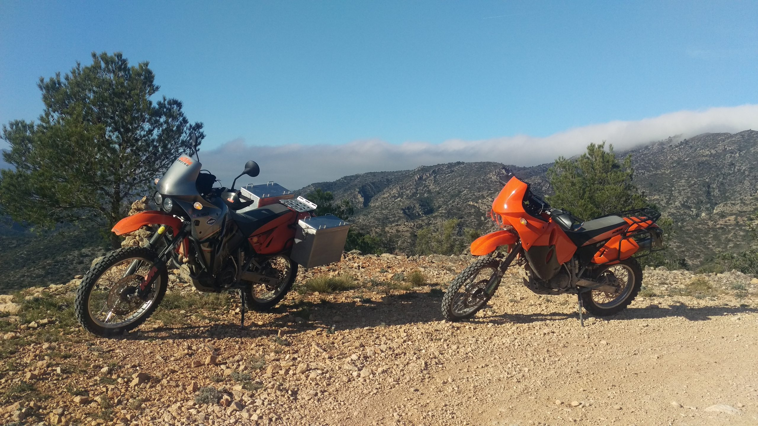 Riding the Cardó-el Boix mountains in Catalunya on my KTM 640 Adventure